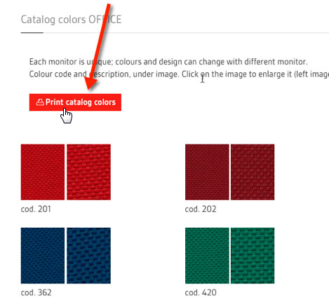 Print catalog colors