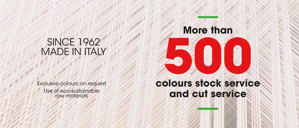 More than 500 colours stock service and cut service